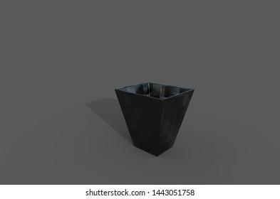 Wastebasket, 3d illustrated, 3d rendered, 3d modeled.