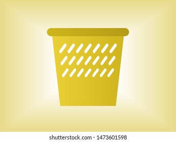 wastebasket icon for for a place to take out the trash