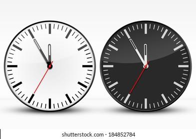 Watches, Black, White, Five to Twelve
