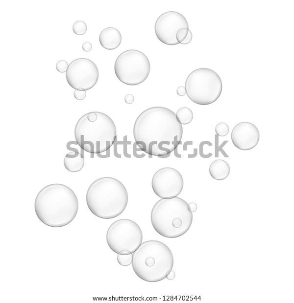 Water bubble icon. Realistic illustration of water bubble icon for web design