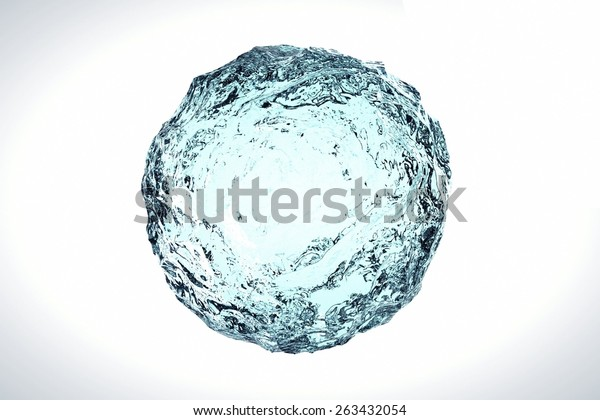 Water Clear Blue 3d