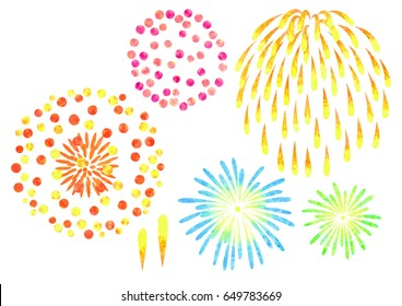 water color fireworks