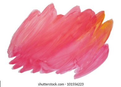 Water Color stick on white background, isolated