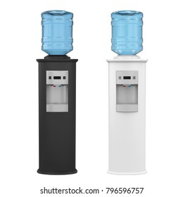 Water Cooler Isolated. 3D rendering