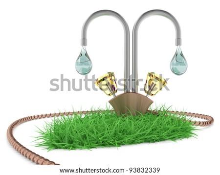 Water Crane Concept 3 D Model Stock Illustration - Royalty Free