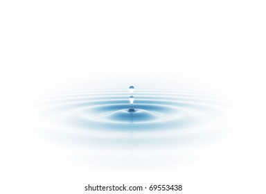 water drop isolated on white