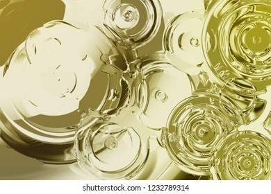Water gold abstrct ilustration background