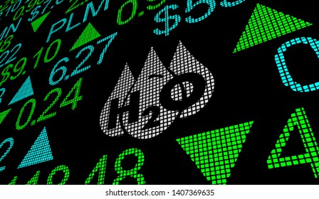 Water H20 Drinkable Clean Resource Stock Market Business Company 3d Illustration