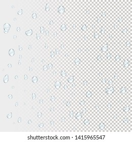 Water rain drops. 3d Illustrations isolated on transparent background. Graphic concept for your design