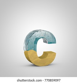 Water Sand Letter C Uppercase 3 D Stock Illustration 770852767