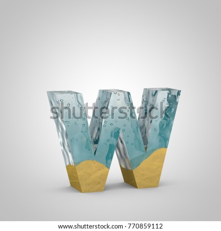 Water Sand Letter W Lowercase 3 D Stock Illustration 770859112