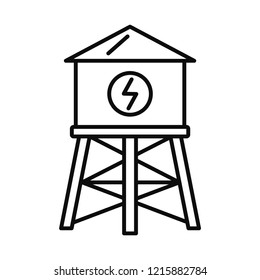 Water save tower icon. Outline illustration of water save tower icon for web design isolated on white background