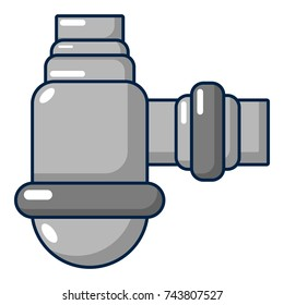 Water sewer sump icon. Cartoon illustration of water sewer sump  icon for web design