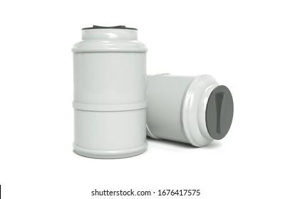 Water tank. Capacities for various liquids, 3d illustration