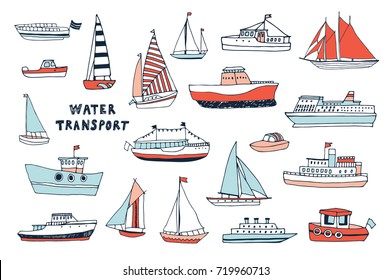 examples of water transportation