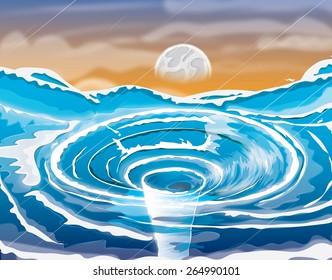 Water Vortex on the ocean.