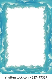 Water / wave frame - illustration for the children