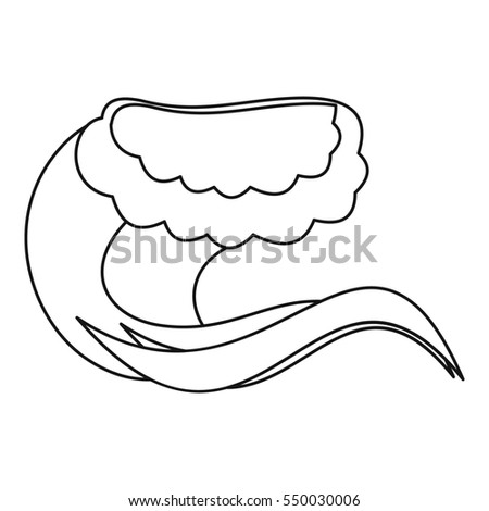 Water Wave Icon Outline Illustration Water Stock Illustration