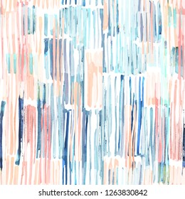 Watercolor abstract contemporary vertical stripes seamless pattern
