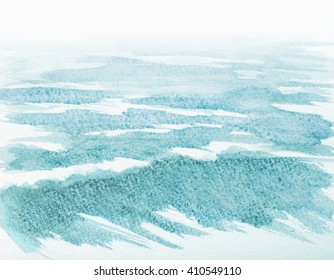 watercolor abstract illustration of ocean waves