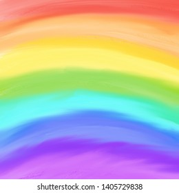 Watercolor abstract rainbow background with mild gradient