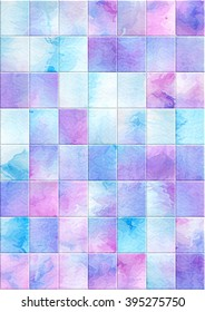 Watercolor abstract square background.