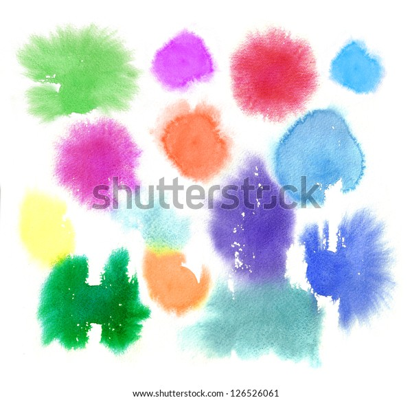 Watercolor Abstract Stains