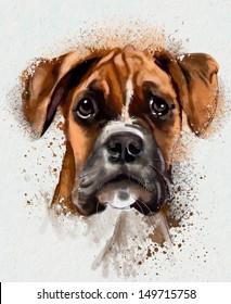 Watercolor Animal Collection: Dog