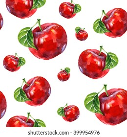 watercolor apple pattern