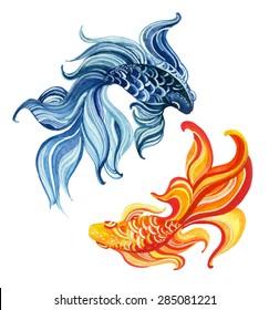 Koi Fish Yin Yang Images Stock Photos Vectors Shutterstock