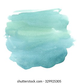 Watercolor background clip art isolated on white