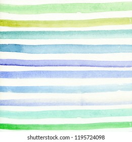 Watercolor background, colored stripes