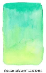 Watercolor background. Green gradient.