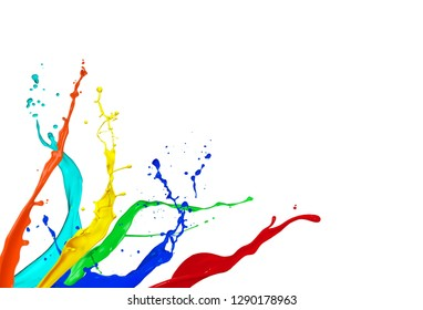 Watercolor background illustration with white background