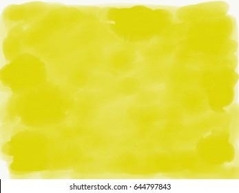 watercolor background in lemon color