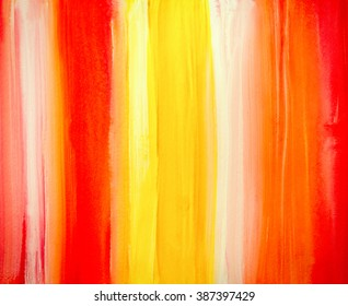 watercolor background with orange and red stripes