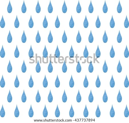 Watercolor Background Raindrops Shower Curtain