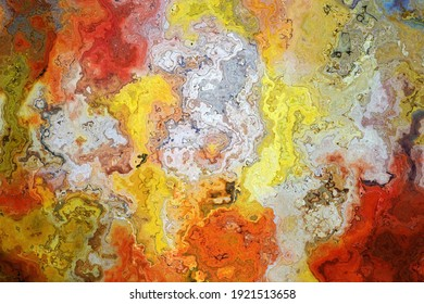 Watercolor background or Texture with white, red, orange and yellow
