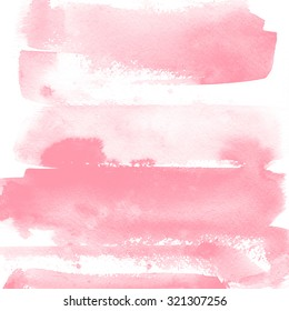 Watercolor background for textures. Abstract watercolor background. Spray paint, ink stains on the paper. Delicate pink, wedding design, rose