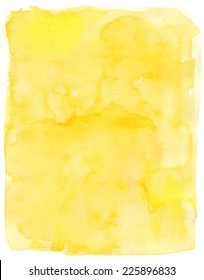 Watercolor background for textures. Abstract watercolor background. yellow