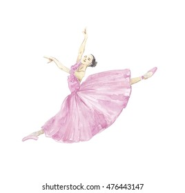 watercolor ballerina