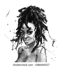 Black Woman Art Sketch