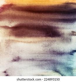 watercolor blended textures, pastel hues, gradients