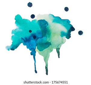 Watercolor blots background