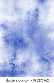 Watercolor blue abstract background.