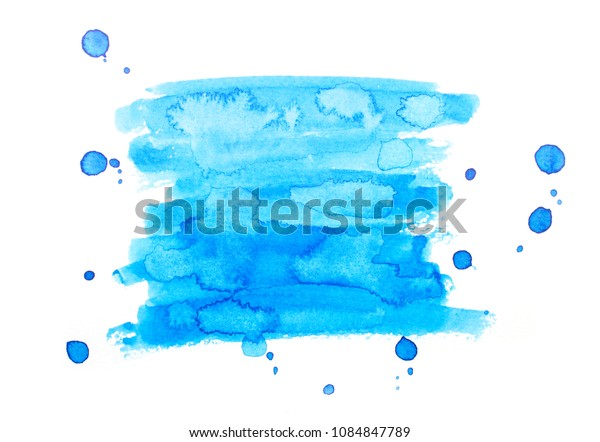 watercolor blue background.by drawing