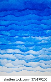Watercolor blue background. Watercolor layers of different density.
