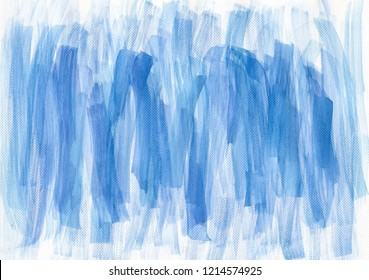 Watercolor blue brush strokes background