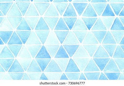 watercolor blue geometric pattern