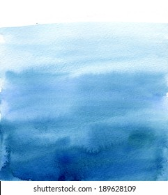 Watercolor blue gradient, like the sky or sea water